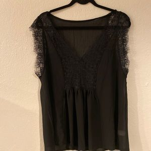 Black sheer tank lace from y2k perfect for layers